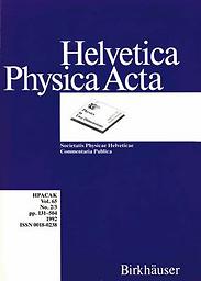 Helvetica physica acta
