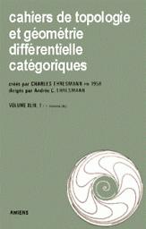 Cahiers de topologie et géométrie différentielle catégoriques