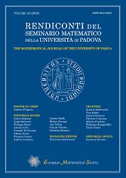 Rendiconti del Seminario matematico della Università di Padova