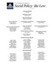 Virginia journal of social policy & the law