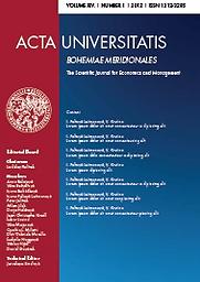 Acta Universitatis Bohemiae Meridionalis