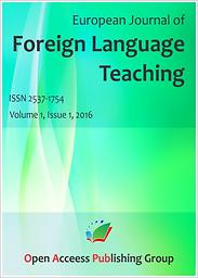 European journal of foreign language teaching