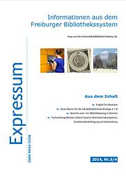 Expressum : informationen aus dem freiburger bibliothekssystem