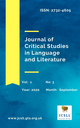 Journal of critical studies in language and literature