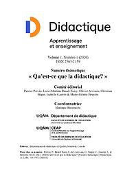Didactique : apprentissage et enseignement