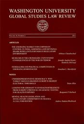 Washington University global studies law review