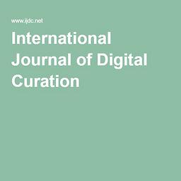 International journal of digital curation