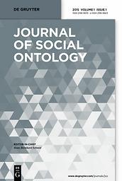 Journal of social ontology