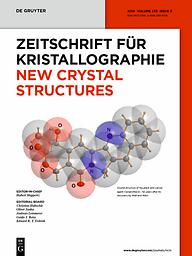 Zeitschrift für Kristallographie. New crystal structures