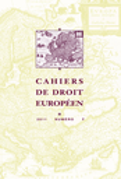 Cahiers droit européen