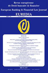 Euredia : revue européenne de droit bancaire et financier