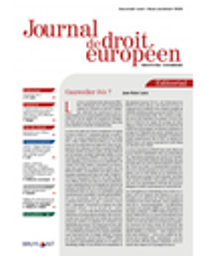 Journal de droit européen