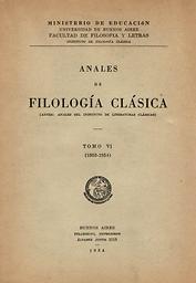 Anales de filología clásica