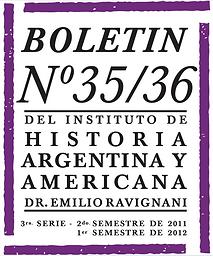 Boletín del Instituto de Historia Argentina y Americana Doctor Emilio Ravignani