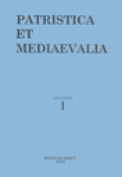 Patristica et mediaevalia