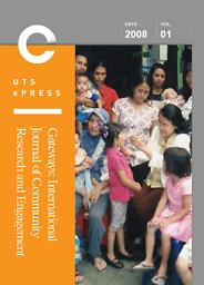Gateways : international journal of community research & engagement