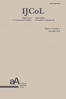 Italian Journal of Computational Linguistics
