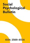 Social Psychological Bulletin = Psychologia Społeczna