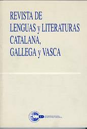 Revista de lengua y literatura catalana, gallega y vasca