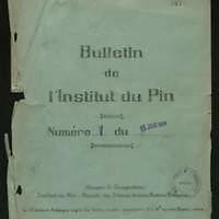 Bulletin de l'Institut du Pin