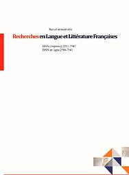 Recherches en langue et littérature françaises