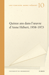 Cahiers d'Anne Hébert