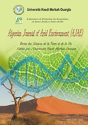 Algerian journal of arid environment