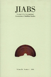 journal of the International Association of Buddhist Studies