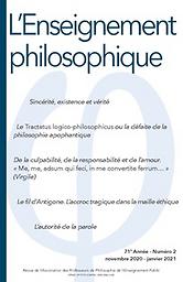 enseignement philosophique