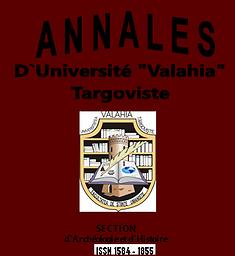 """Annales d'Université """"Valahia"""" Târgovişte. Section d'Archéologie et d'Histoire"""