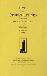 Revue des études latines