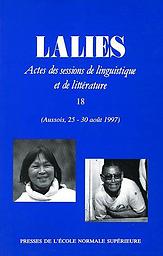 Actes de la Session de linguistique ( LALIES )