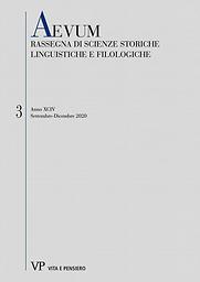 Aevum ( Rassegna di scienze storiche, linguistiche e filologiche)