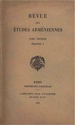 Revue des études arméniennes
