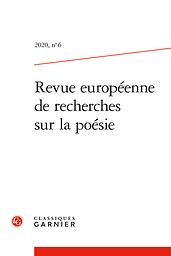 Revue européenne de recherches sur la poésie
