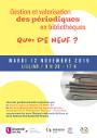 """A Lille le 12 novembre : """"Mutualiser la valorisation des périodiques avec Mir@bel et Signal"""""""